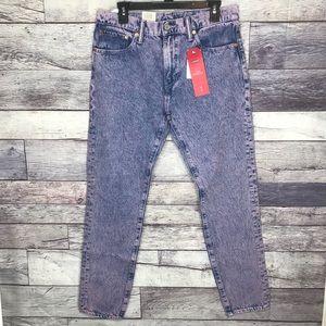 NWT Levi's 512 Slim Taper Fit Stretch Jeans 33X32